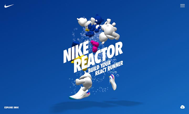 Nike Reactor website