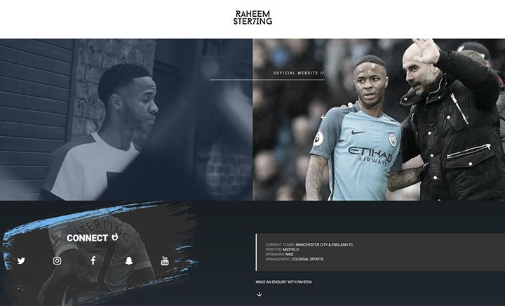 Raheem Sterling website