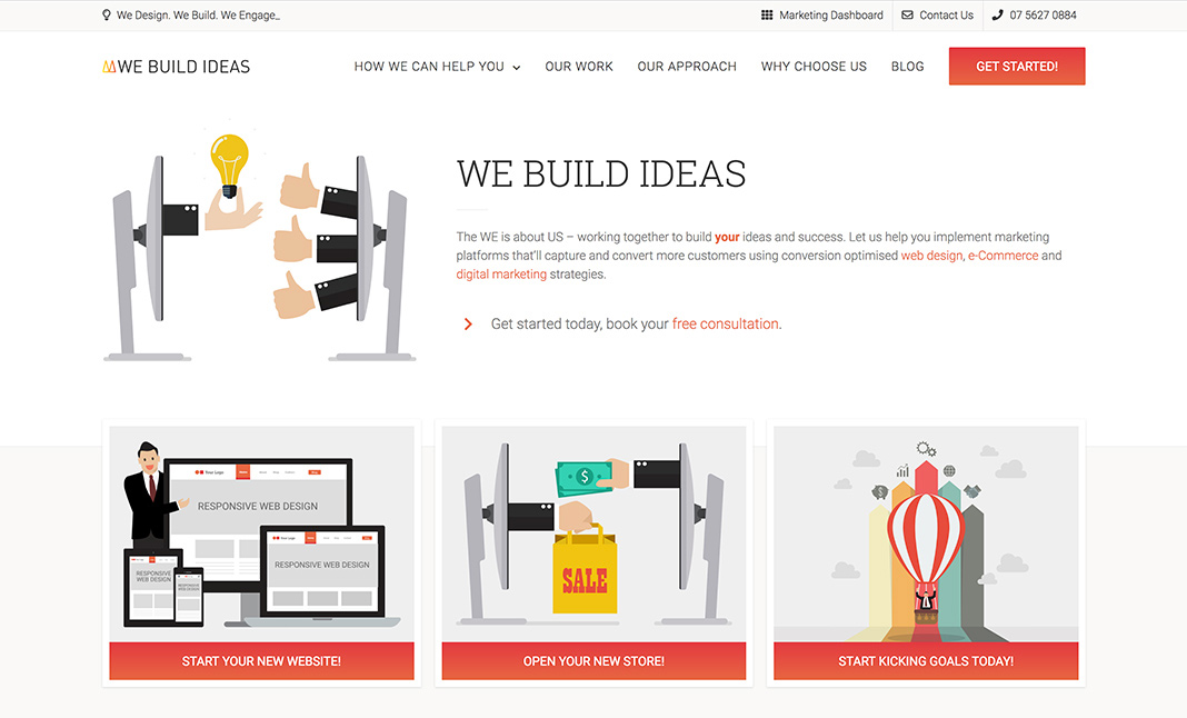 We Build Ideas website