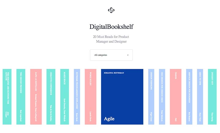Digital Bookshelf website