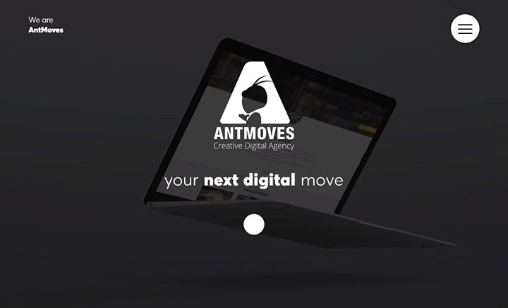 AntMoves Creative Digital Agency website