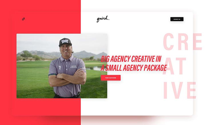 Quirk Creative website