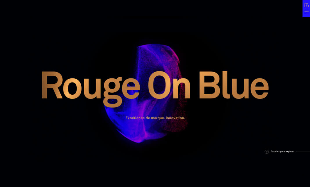 Rouge On Blue website