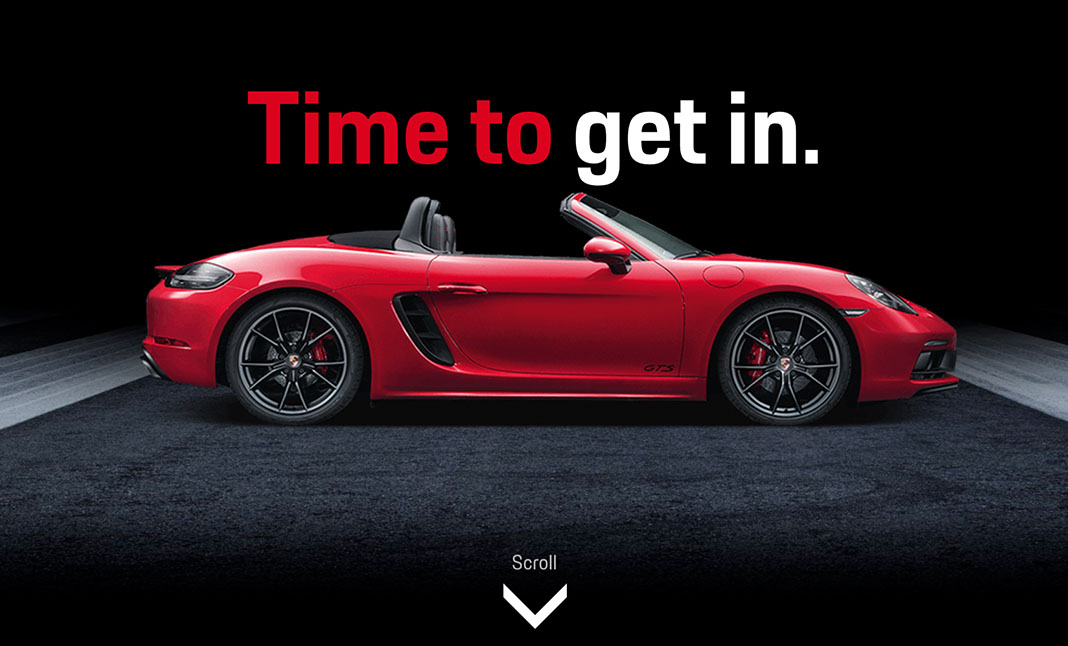 Porsche: Time to Get In website