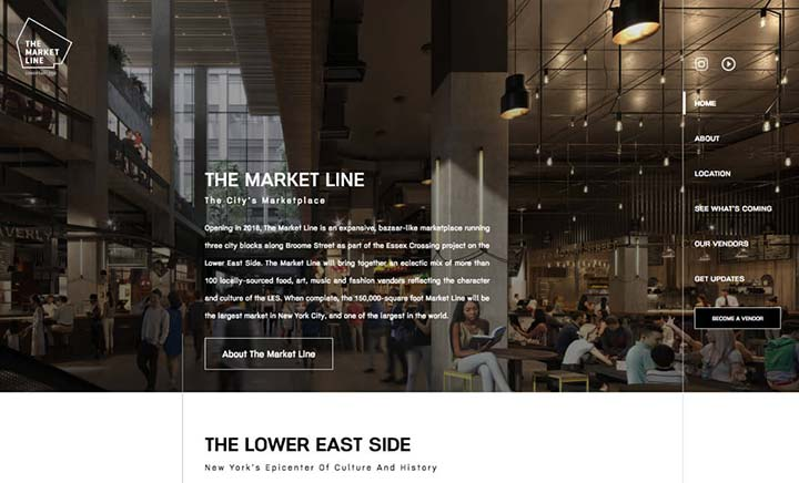 The Market Line website