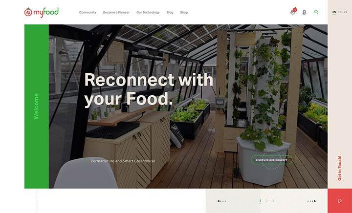 Myfood website