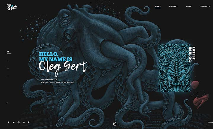 Illustrator Oleg Gert website