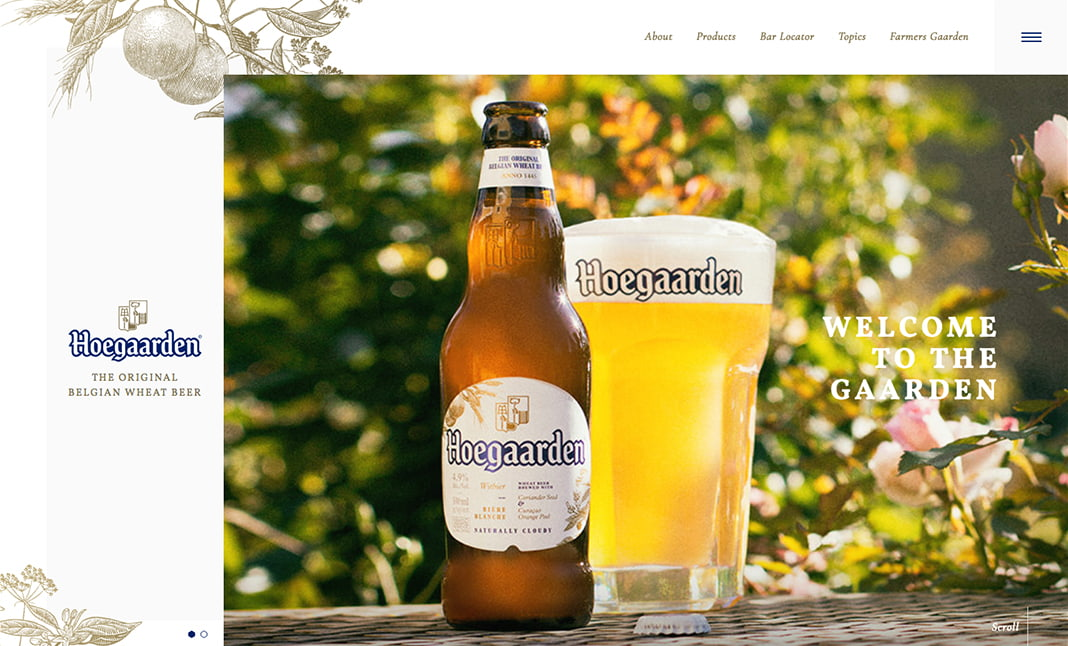 Hoegaarden website