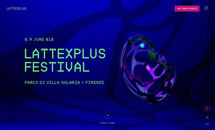 LattexPlus Festival 2018 website