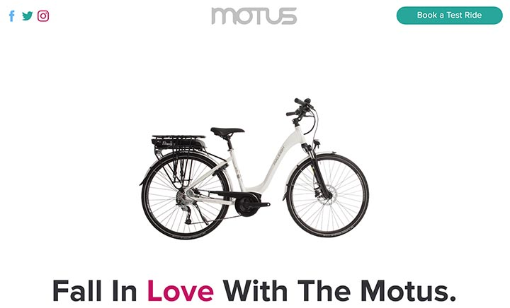 Raleigh Motus website