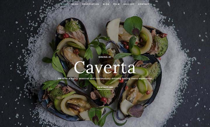 Caverta WP Restaurant Theme