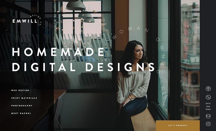 Emwill Design Co website