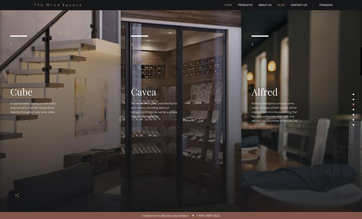 The Wine Square website
