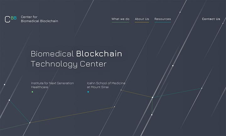 Center for Biomedical Blockchain website