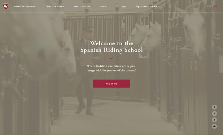 Spanish Riding School website