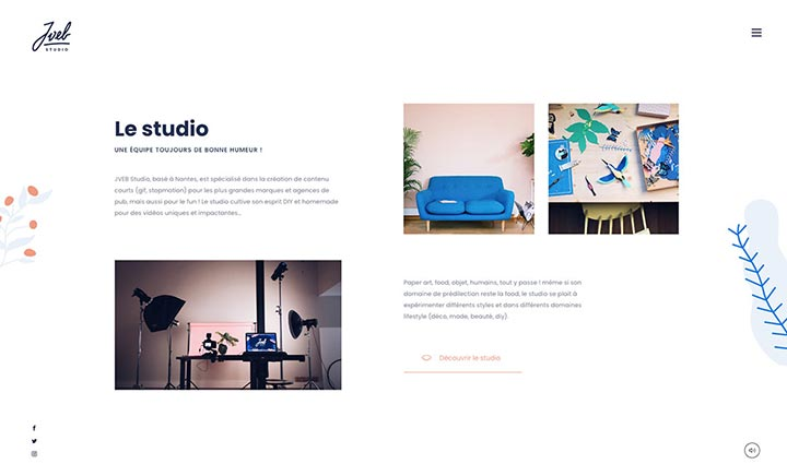 Jveb Studio website