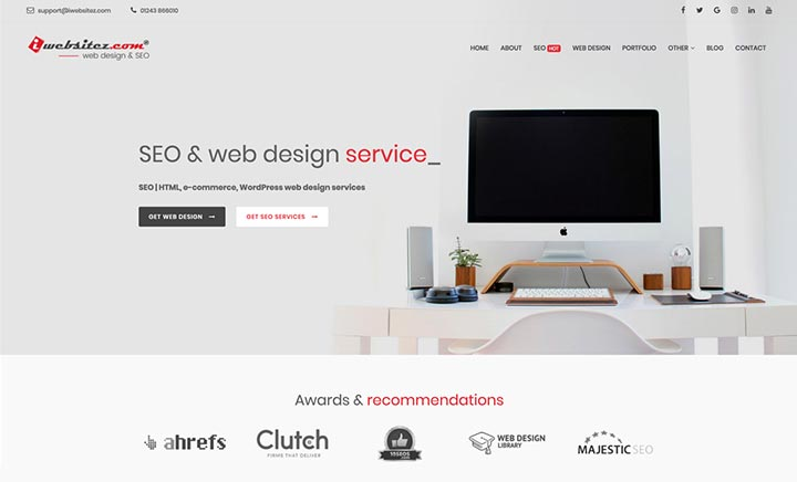 Web Design & SEO Company website