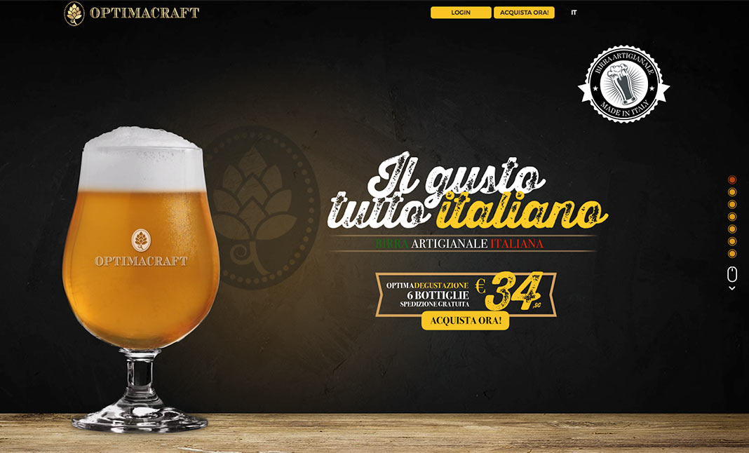 Optima Craft Beer website