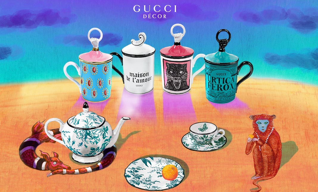 Gucci Décor website