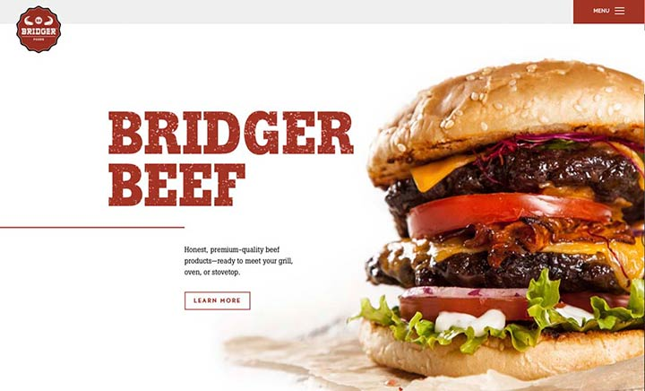 Bridger Beef website