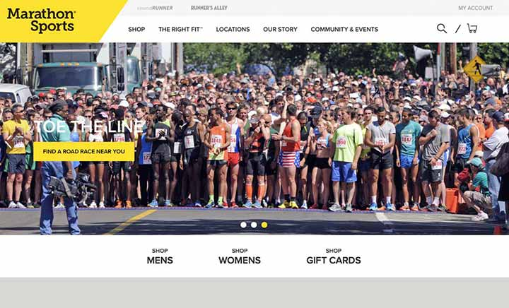 Marathon Sports website