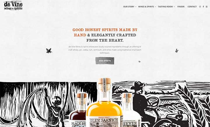 De Vine Wines & Spirits website