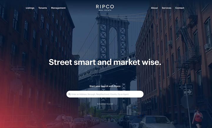 Ripco Real Estate website