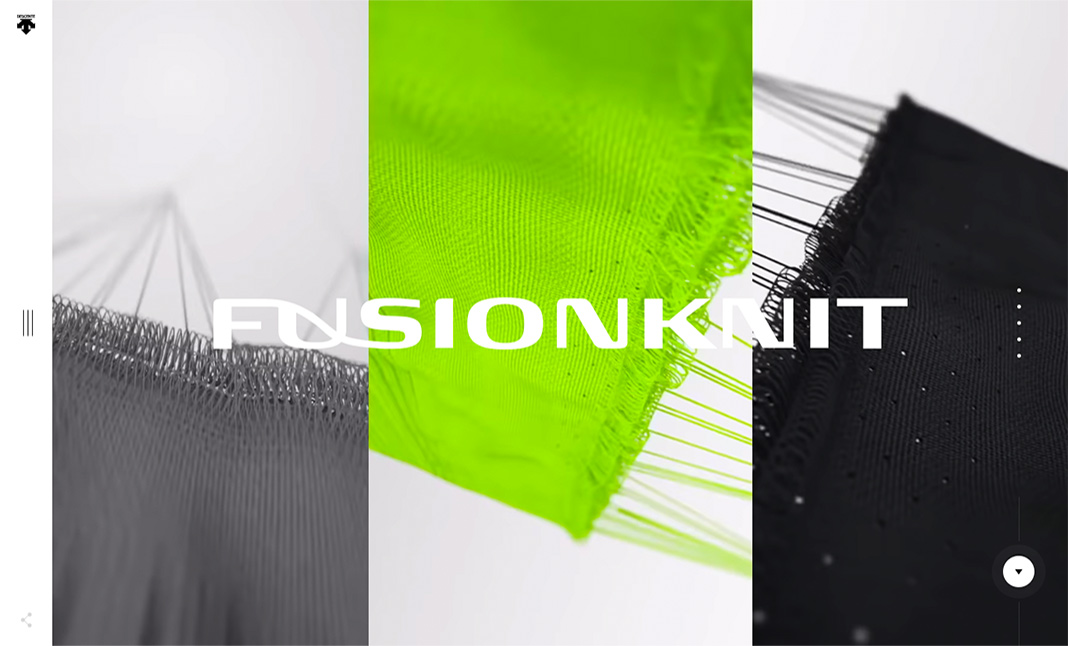 DESCENTE FUSIONKNIT website
