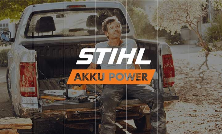 AKKU POWER. Made By STIHL. website