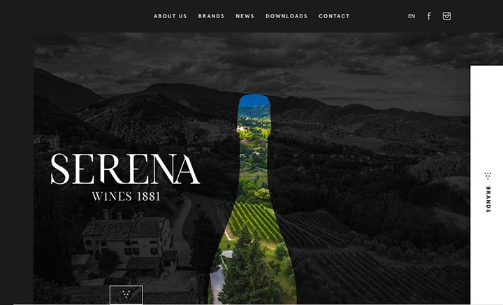 Serena Wines 1881 website