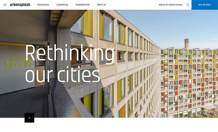 Urban Splash website