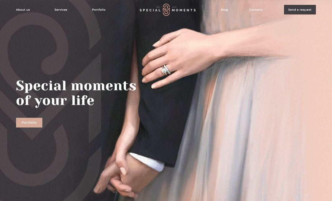 Special Moments website