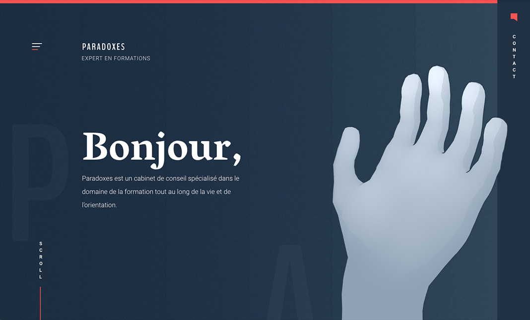 Paradoxes Conseil website