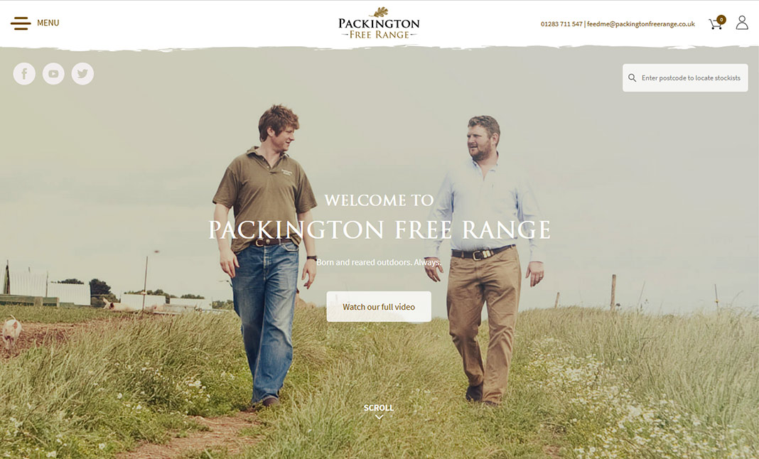 Packington Free Range website