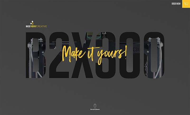 BEEVERYCREATIVE B2X300 website