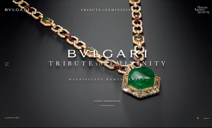 Bulgari Tribute To Femininity  website