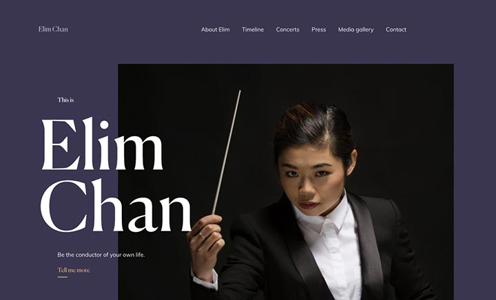 Elim Chan website