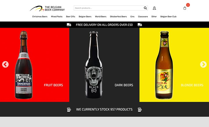 Belgian Beer Company website