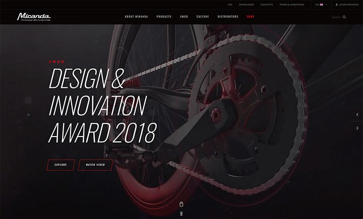 Miranda Bike Parts website