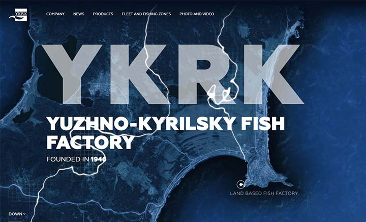 YUZHNO-KYRILSKY Fish Factory website