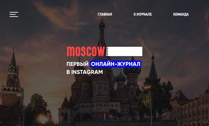 Moscow Times website