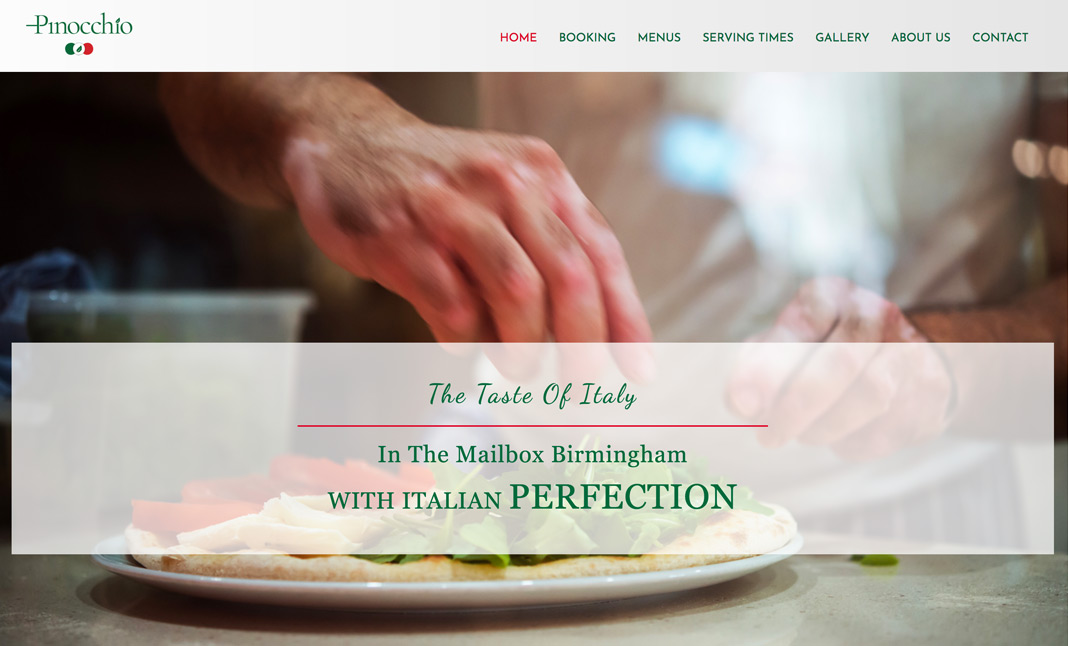 Pinocchio Italiano website