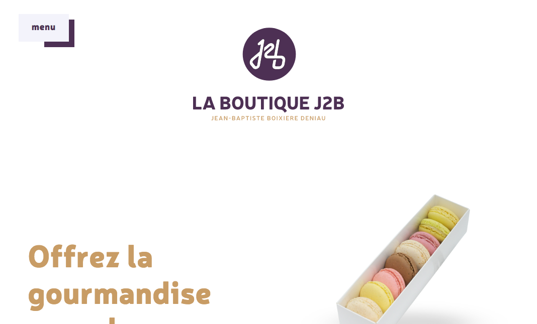 La Boutique J2B website