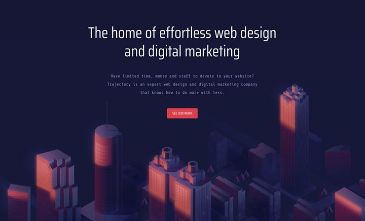 Trajectory Web Design website