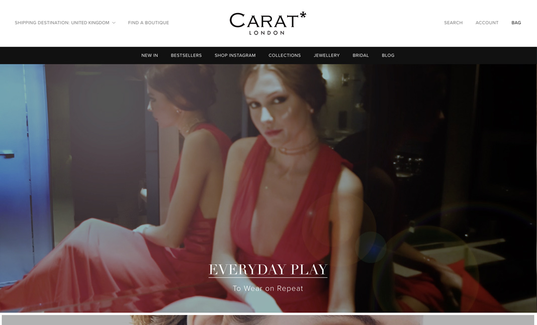 Carat* London website