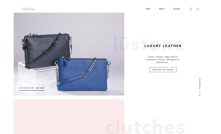 Lustone The Label website