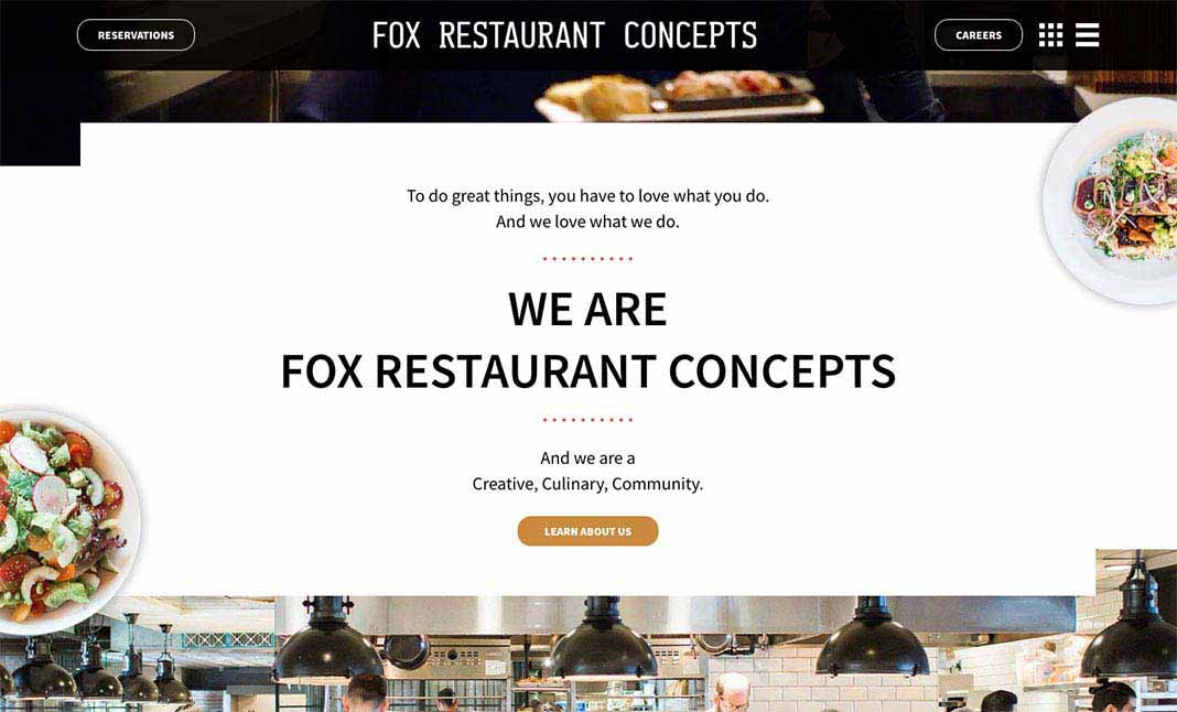 Fox Restaurant Concepts website