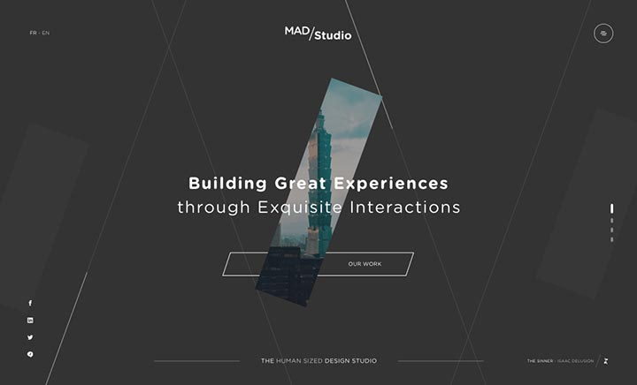 Mad/Studio website