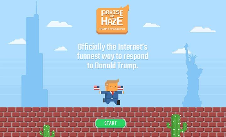 Praise or Haze Trump website