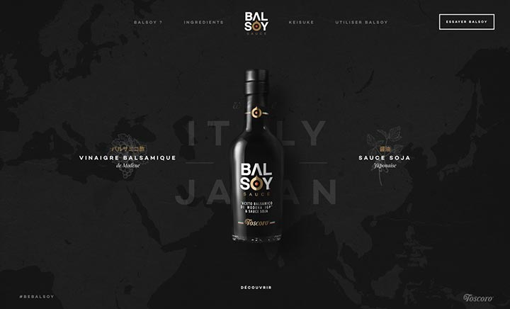 Balsoy Sauce website